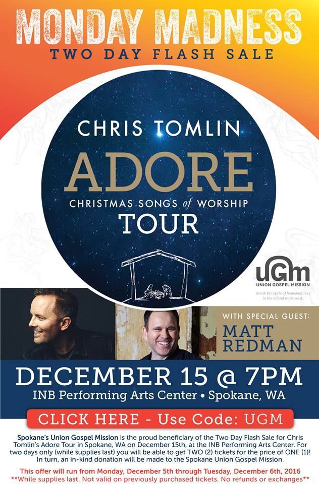 2-for-1 Ticket Sale: Adore - Christmas Tour | Shine 104.9