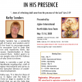 RESCHEDULED -In His Presence Retreat